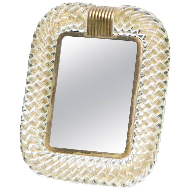 Seguso Vanity Mirror or Picture Frame, Murano
