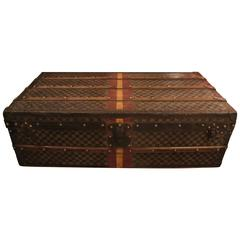 Vintage Louis Vuitton Damier Steamer Trunk