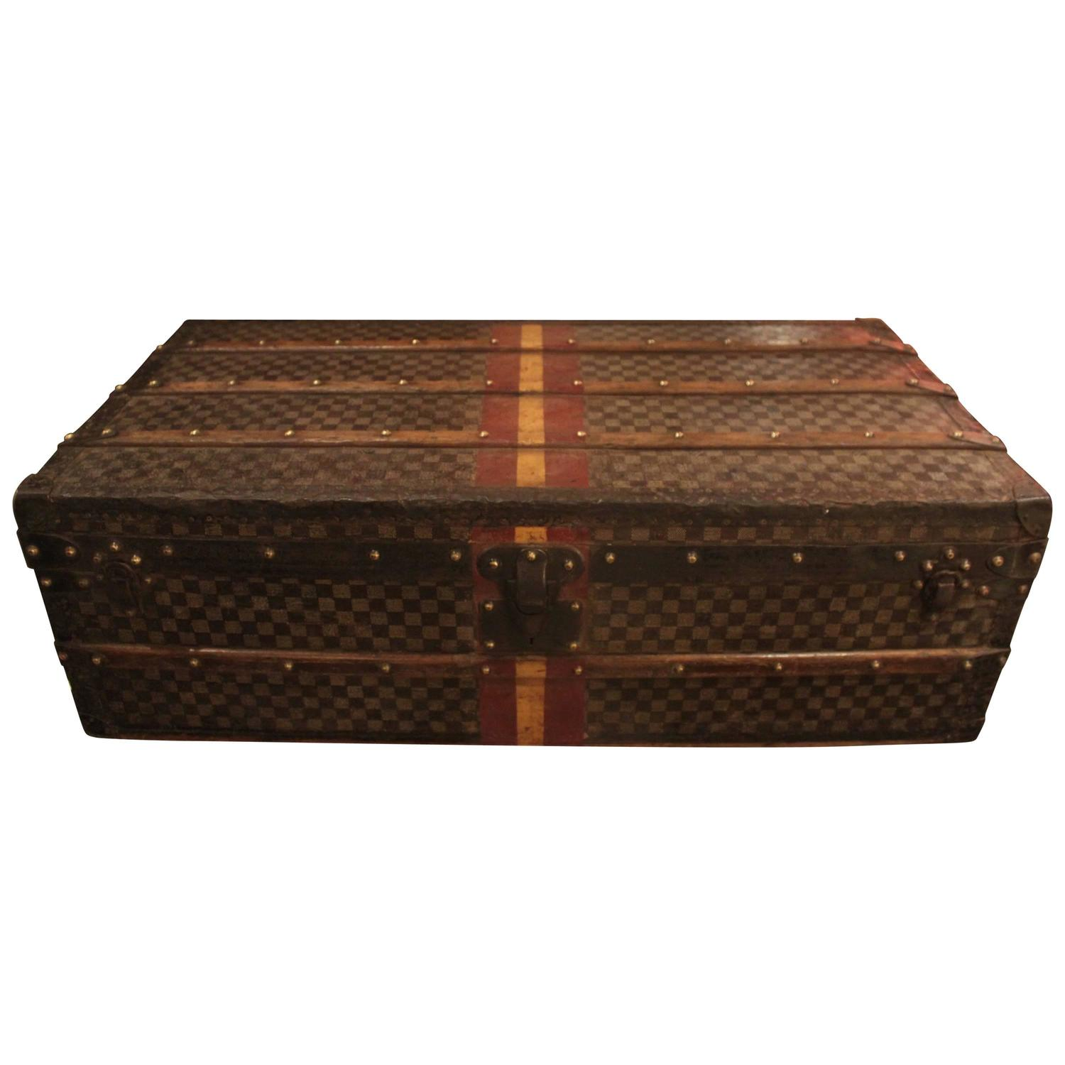 Lv Trunk Coffee Table: Vintage Louis Vuitton Damier Steamer Trunk For Sale At 1stdibs