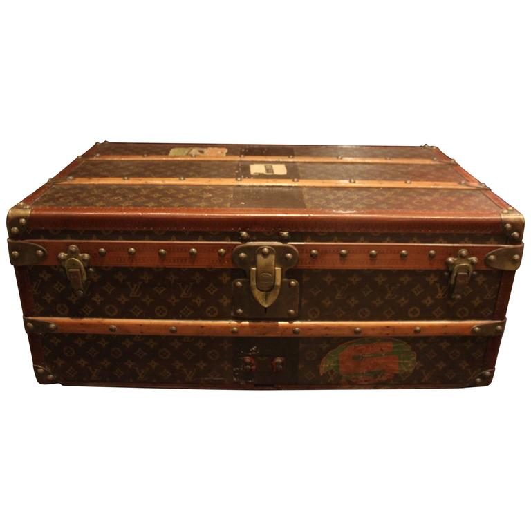 Lv Trunk Coffee Table: Vintage Louis Vuitton Steamer Trunk For Sale At 1stdibs
