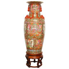 Chinese Canton Famille Rose Porcelain Vase