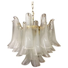 Three-Tier Murano Tulipani Chandelier by Mazzega