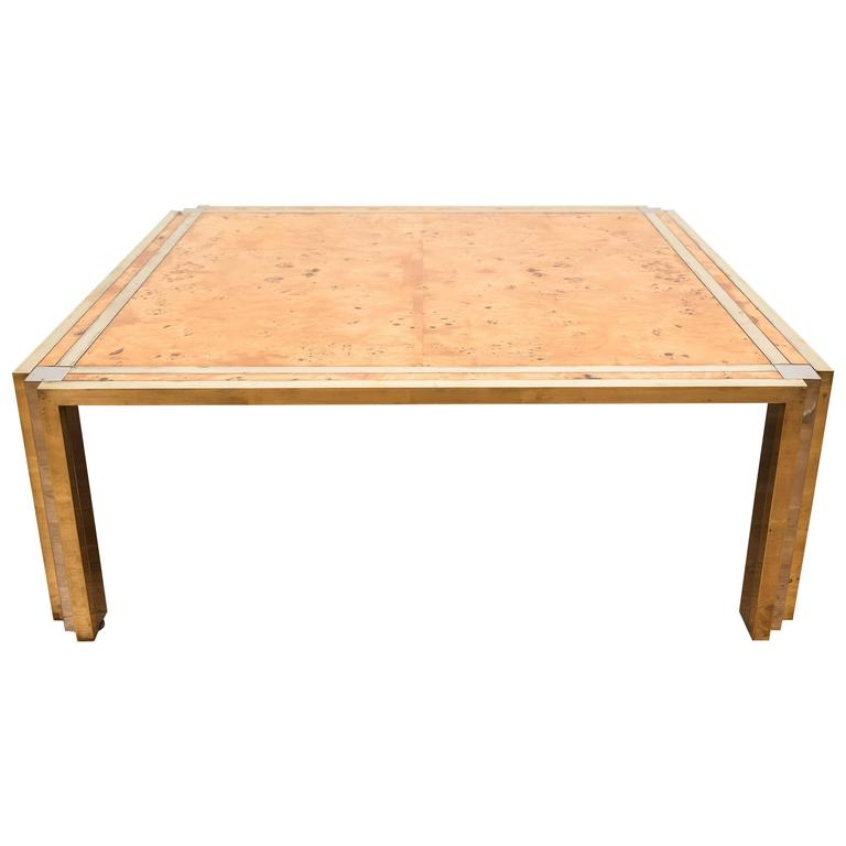 Birds Eye Maple Veneered Coffee Table In The Manner Of Milo Baughman For Sale At 1stdibs