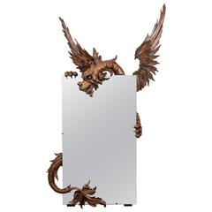19th Carved Wood Mirror Attributed to Gabriel Viardot
