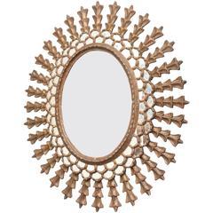 European Oval Gold Mirror