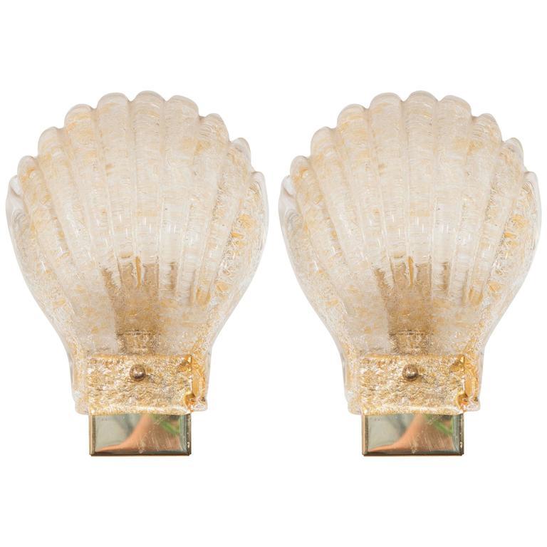Pair of 1960s Italian Sea Shell Sconces