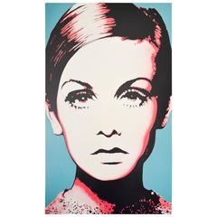 Portrait of Twiggy Oil on Canvas