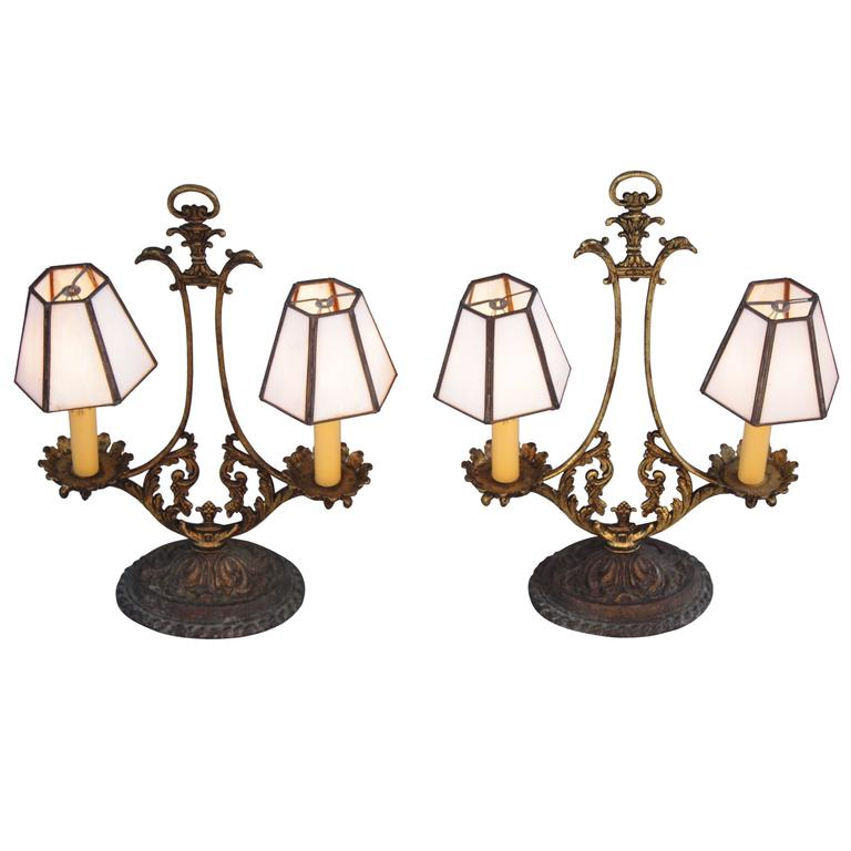 Pair of 1920s Spanish Revival Table Lamps