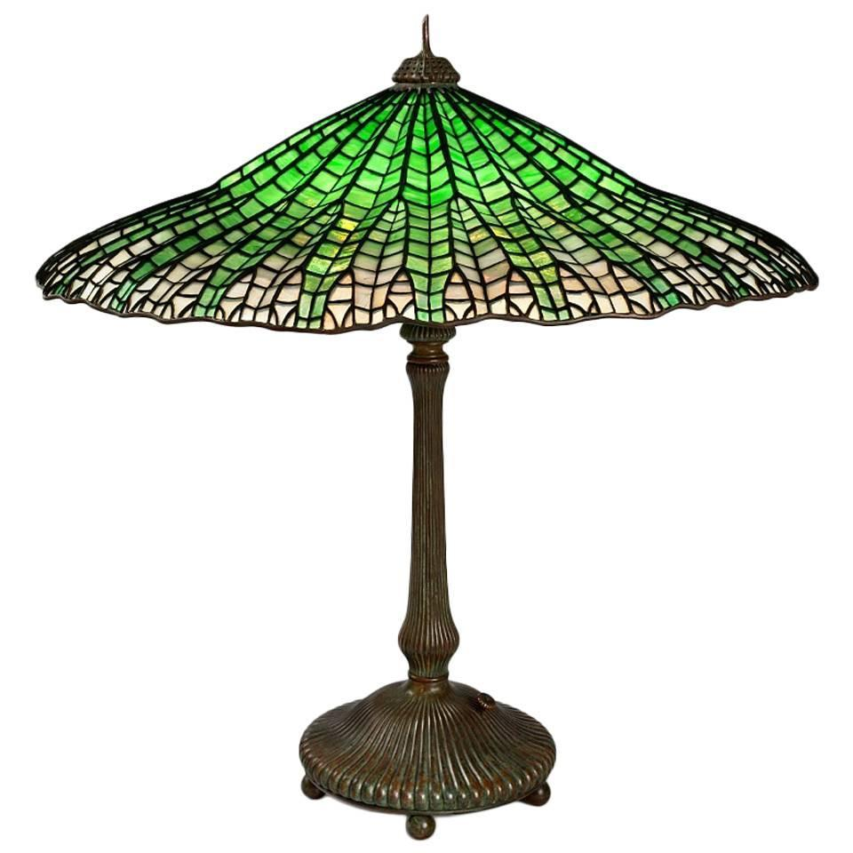 tiffany studios mandarin table lamp for sale at 1stdibs. Black Bedroom Furniture Sets. Home Design Ideas