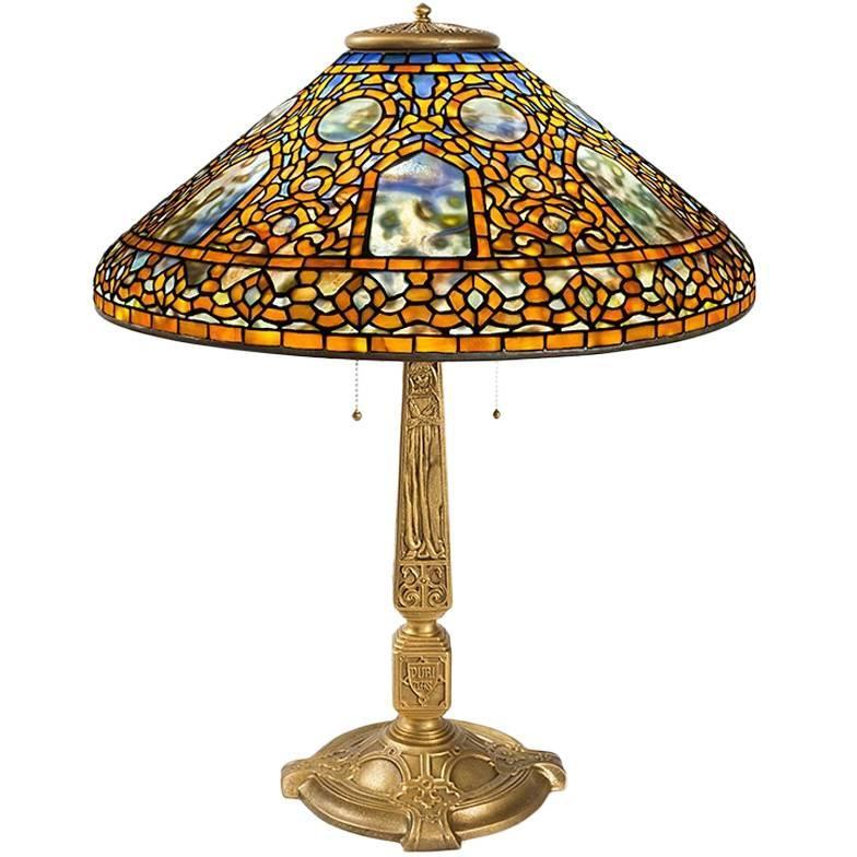 tiffany studios russian table lamp for sale at 1stdibs. Black Bedroom Furniture Sets. Home Design Ideas