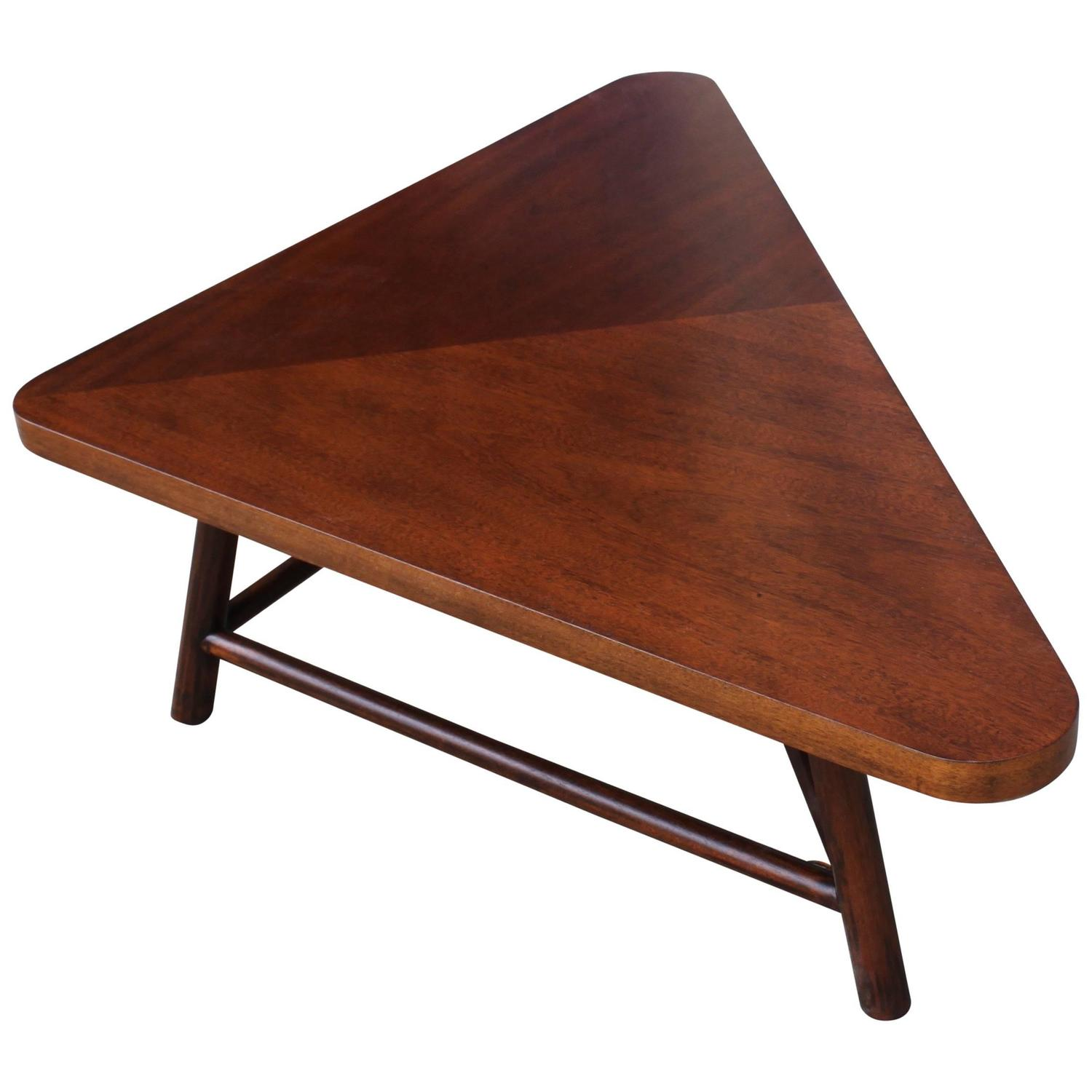robsjohn gibbings triangular coffee table at 1stdibs. Black Bedroom Furniture Sets. Home Design Ideas