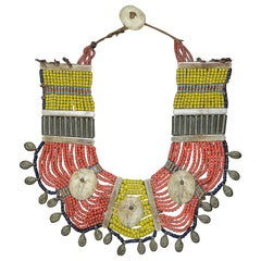 Vintage Nagaland Necklace like a Sculpture on Wall