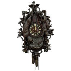 Rare Antique Black Forest Trumpeter Clock, circa 1900