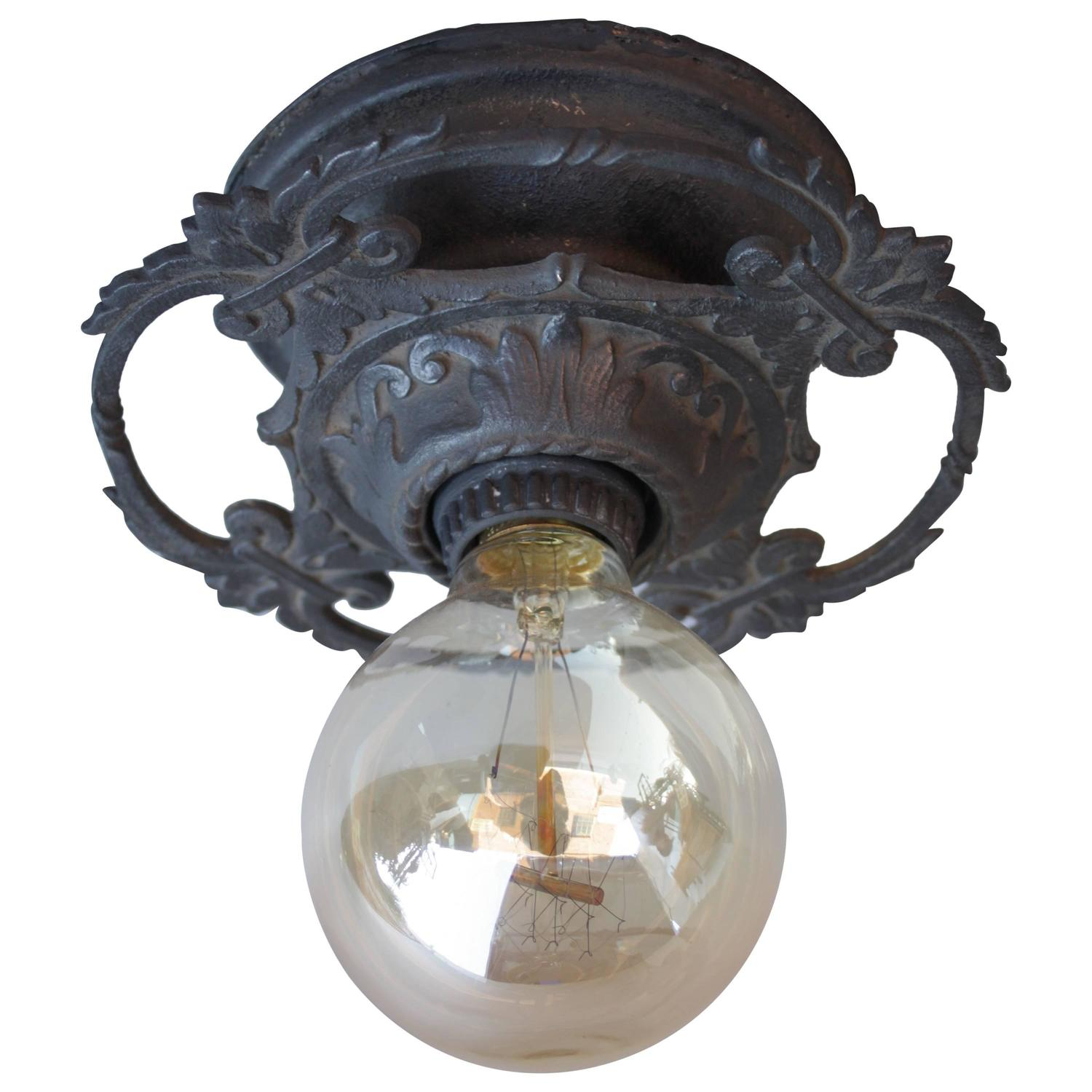 1920s spanish revival flush mount light fixture at 1stdibs for Spanish revival lighting fixtures