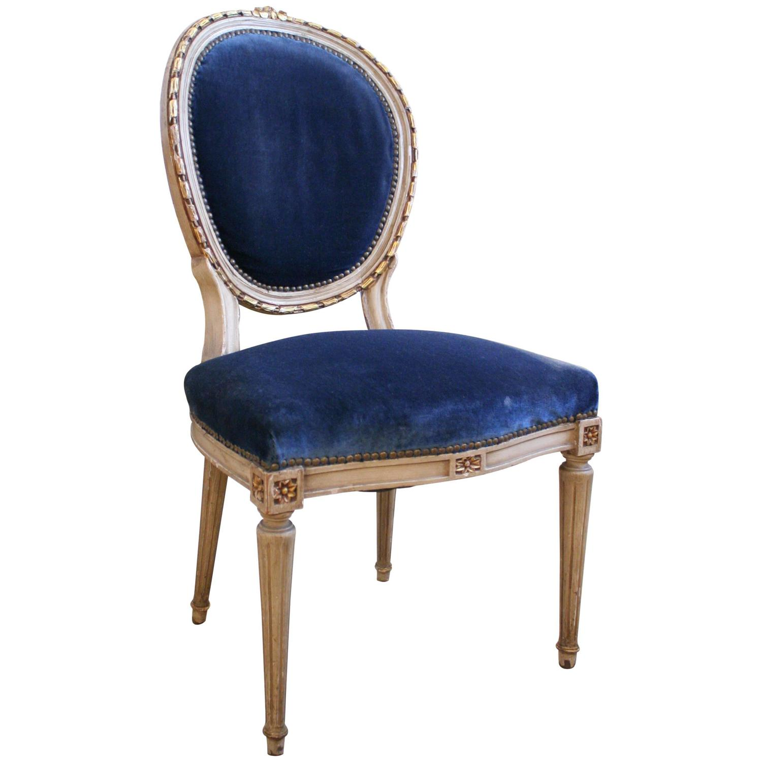 19th Century French Side Chair with Oval Back at 1stdibs