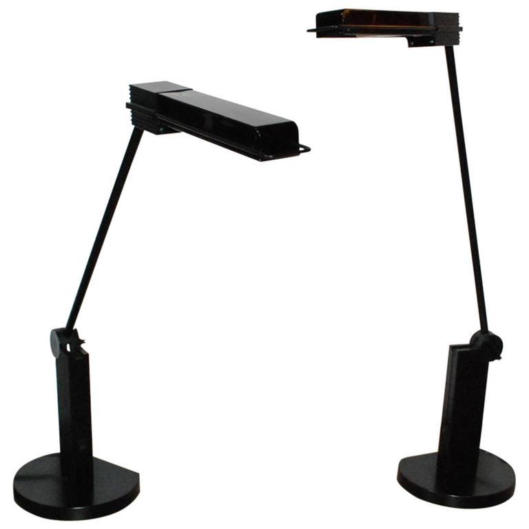 "Pair of Artemide ""Alistro"" Table Lamps by Ernesto Gismondi"