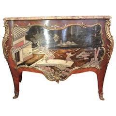 A Very Fine and Rare Commode in the Style of Louis XV of the 19th Century