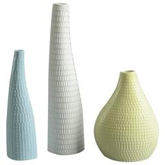 "Three ""Reptil"" Vases by Stig Lindberg for Gustavsberg"