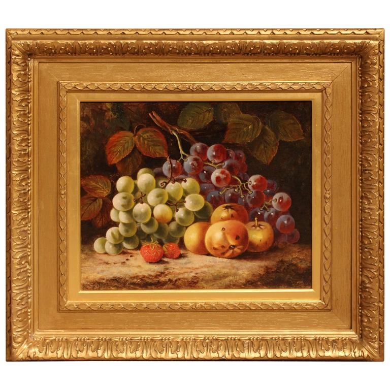 A still life of fruit oil painting by thomas joseph for Oil art for sale