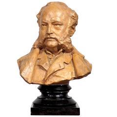 Original Plaster Bust by Olin Levi Warner, Dated 1880