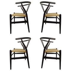 Set of Four Wegner Wishbone Chairs