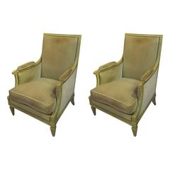 Pair of Maison Jansen Louis XVI Style Armchairs or Bergères