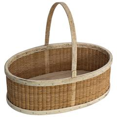 Shallow Oval Form Basket