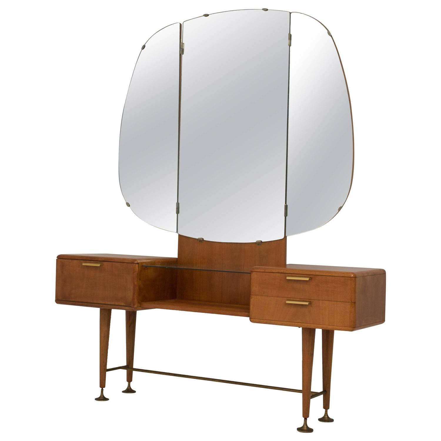 Rare Mid Century Modern Vanity Or Dressing Table By A A