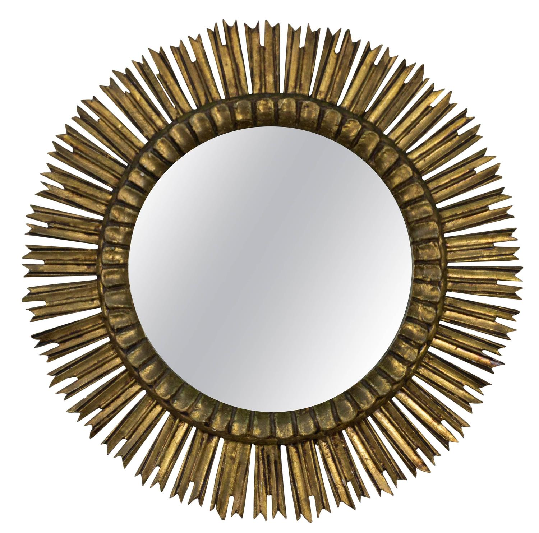 Giltwood spanish sunburst mirror at 1stdibs for Sunburst mirror