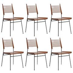 Six Paul McCobb Ladder or Shovel Chairs for Winchendon Dining Chairs