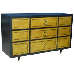 1950s Ebonized Mahogany Robsjohn-Gibbings Style Dresser Credenza