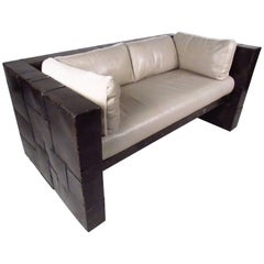 Brutalist Modern Loveseat by Paul Evans