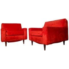 Large Midcentury Paul McCobb Style Armchairs