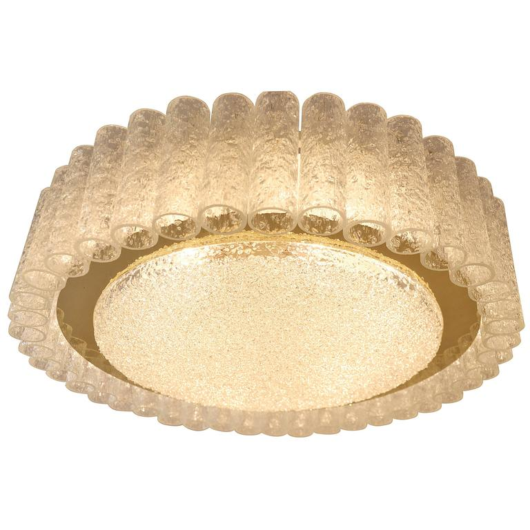 Extra small schoolhouse flush mount at 1stdibs extra large doria glass flush mount or sconce with brass surround aloadofball Choice Image