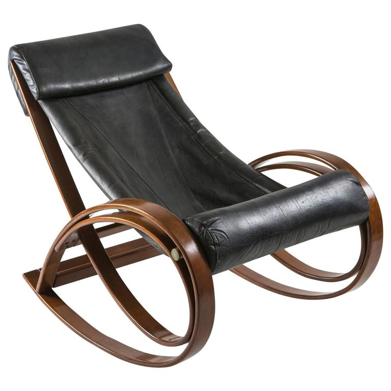 """Sgarsul"" Rocking Chair by Gae Aulenti for Poltronova For Sale"