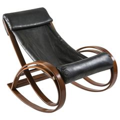 """Sgarsul"" Rocking Chair by Gae Aulenti for Poltronova"