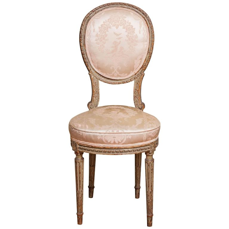 Louis XVI Style Side Chair, 19th Century