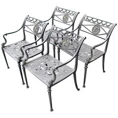Set of Four Neoclassical Garden Chairs