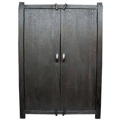 Dos Gallos Custom Large Primitive Modern Armoire or Wardrobe