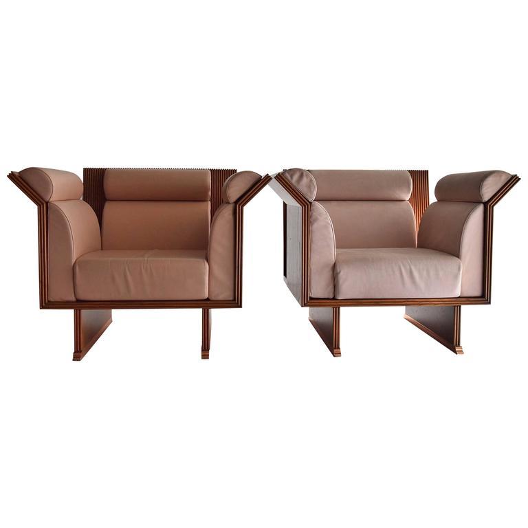 Poltrona Pretenziosa Chairs by Ugo La Pietra, 1983