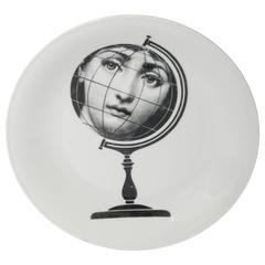 """Piero Fornasetti porcelain """"Tema e Variazione"""" plate, Italy circa 1970"""