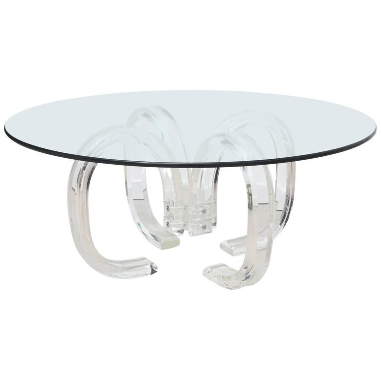 Vintage Lucite Ribbon Coffee Table At 1stdibs