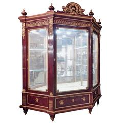 Huge Louis XVI Ormolu-Mounted Three-Door Vitrine by Guillaume Grohe