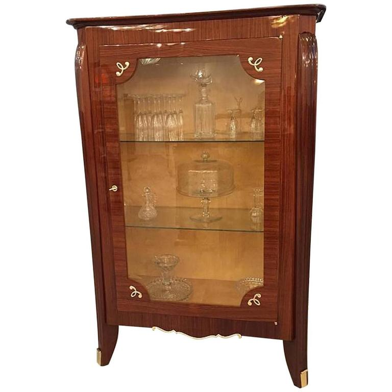 French art deco vitrine display cabinet for sale at 1stdibs for Sideboard vitrine