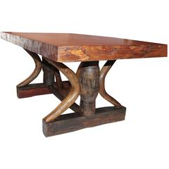 19th Century Plank Top Rustic Table