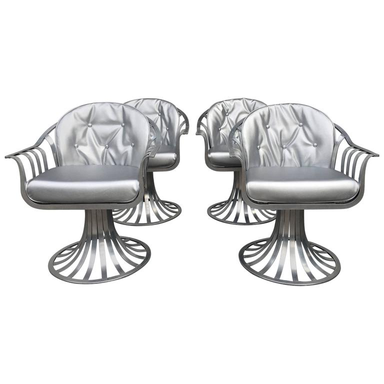 Set of Four Armchairs by Russell Woodard