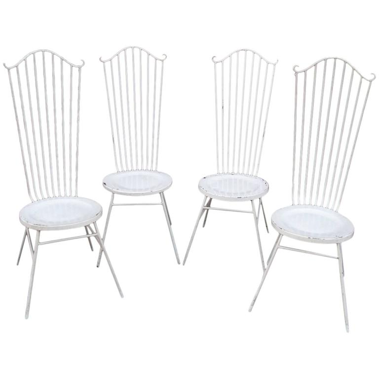 set of four midcentury garden chairs at 1stdibs