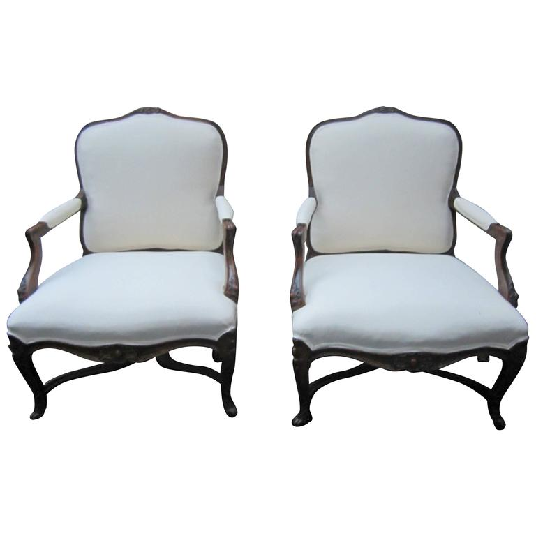 Pair of 19th Century Louis XVI Style Fauteuils