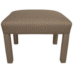 Small Upholstered Bench, Ottoman