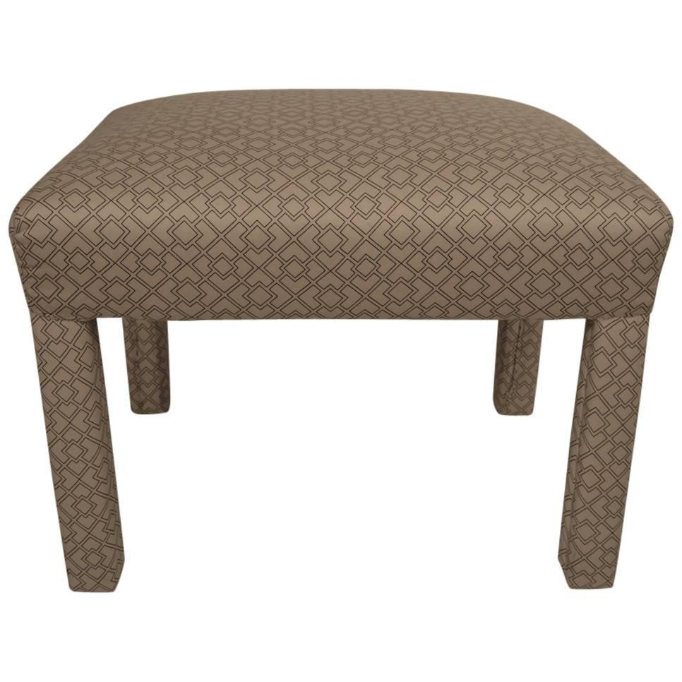 Small Upholstered Bench Ottoman For Sale At 1stdibs